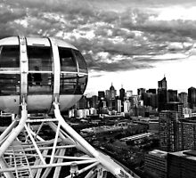 0359 Melbourne Star View BW by DavidsArt