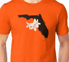 Florida Silhouette and Flowers Unisex T-Shirt