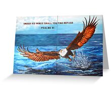 Under His Wings Greeting Card