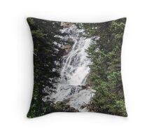 Hidden Falls, Grand Teton National Park, Wyoming Throw Pillow