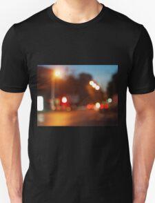 Blurred lights of cars Unisex T-Shirt