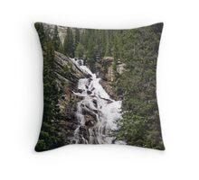 Hidden Falls in Grand Teton National Park, Wyoming, USA Throw Pillow