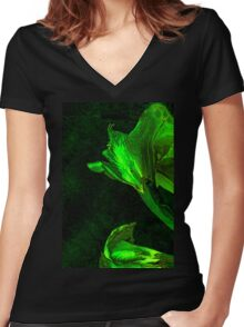 Eclectic Daffodil Women's Fitted V-Neck T-Shirt