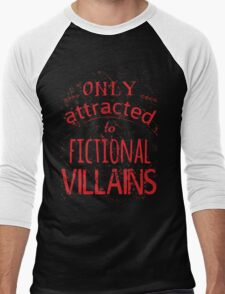 only attracted to fictional villains Men's Baseball ¾ T-Shirt