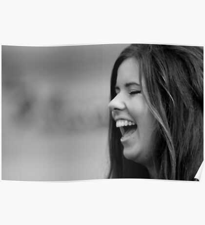 Woman Laughing Poster