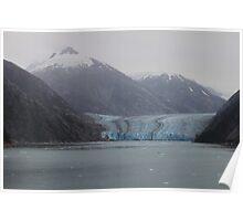 Sawyer Glacier in Tracy Arm Fjord in Alaska .... Poster
