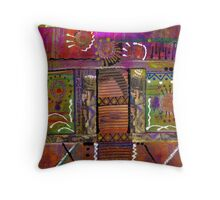 SEEING LIFE with my eyes shut tight Throw Pillow