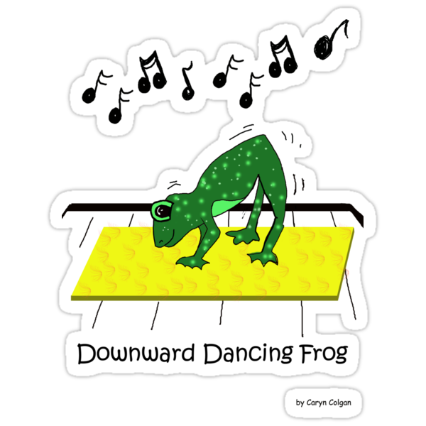 Downward Dancing Frog Yoga by Caryn Colgan