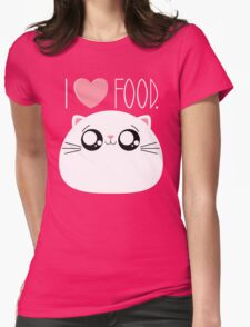 Cats Love Food Womens Fitted T-Shirt