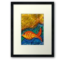 Give A Man A Fish Framed Print