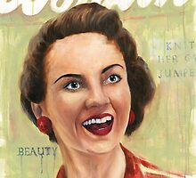 Woman 1954- based on a vintage woman's magazine by Deborah Cauchi