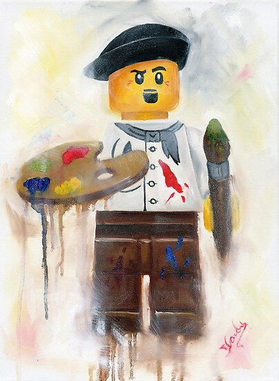 little lego Artist by Deborah Cauchi