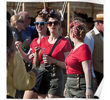 Red Ladies, Goodwood Revival, 2011 Poster