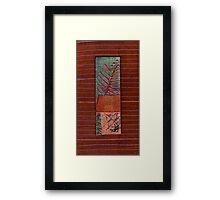 Copper Leaf Framed Print
