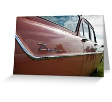 Red Ford Zephyr, Goodwood Revival, 2011 Greeting Card