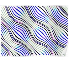 Optical illusions geometric pattern 1 blue purple and white Poster