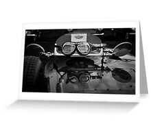 Goggles, Goodwood Revival, 2011 Greeting Card