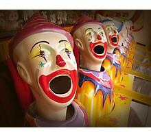 Fairground Clowns Photographic Print