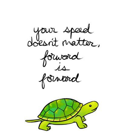 Forward is Forward Turtle Sticker