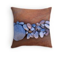 Band of pebbles, Hopeman Throw Pillow