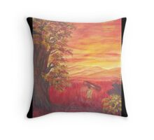 Work's end at dusk. Throw Pillow