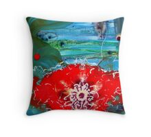 A Flower heart Throw Pillow