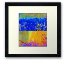 Bright Blue Paves the Way Framed Print