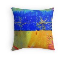 Bright Blue Paves the Way Throw Pillow