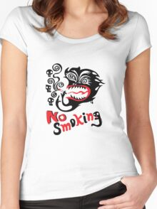 No Smoking - monster Women's Fitted Scoop T-Shirt