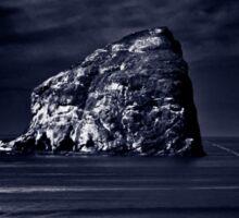 Haystack Rock By Moonlight Sticker