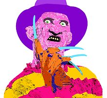 Freddy Kruger- Horror Lisa Frank Style! by Maggie Smith