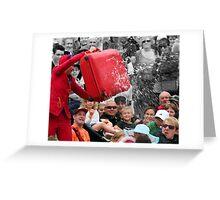 Busking Balloon Burst Greeting Card