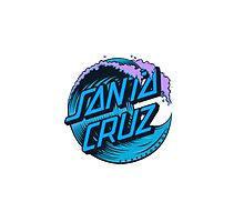 Blue Santa Cruz Wave Logo by rileyr21