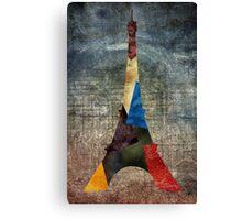 Eiffel Grunge Canvas Print