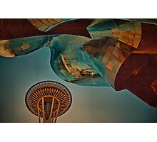 USA. Seattle. Space Needle & Museums. Photographic Print