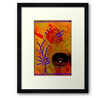The Flower We Saw on Wooden Pond  Framed Print