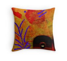The Flower We Saw on Wooden Pond  Throw Pillow