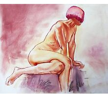Seated Female Nude Photographic Print