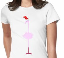 Pink Christmas Flamingo 1 Womens Fitted T-Shirt
