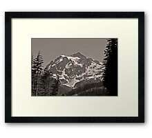 mt shuksan, washington, usa august 2011 Framed Print