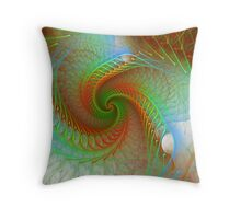 Controlled Spiral Throw Pillow