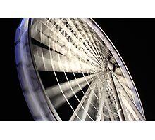The Brisbane Wheel at Night Photographic Print