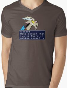 My Little Pony Discord Quote Shirt 2 Mens V-Neck T-Shirt