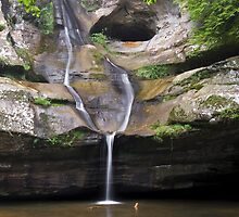 Cedar Falls in Ohio's Hocking Hills by Kenneth Keifer