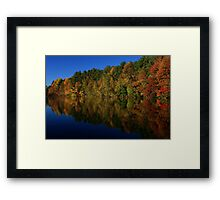 Autumn Reflection of Colors Framed Print