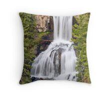 Undine Falls, Yellowstone National Park, Wyoming Throw Pillow