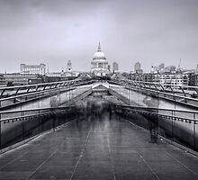 Millennium Bridge and St Pauls Cathedral  by chris2766