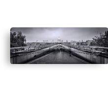 Millennium Bridge and St Pauls Cathedral  Canvas Print