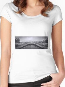 Millennium Bridge and St Pauls Cathedral  Women's Fitted Scoop T-Shirt