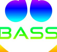 Colorful Bass In Heart Sticker
